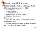 layer model summary