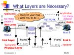 what layers are necessary2