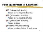 four quadrants learning1