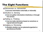 the eight functions1