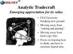 analytic tradecraft emerging appreciation for its value