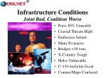 infrastructure conditions joint bad coalition worse