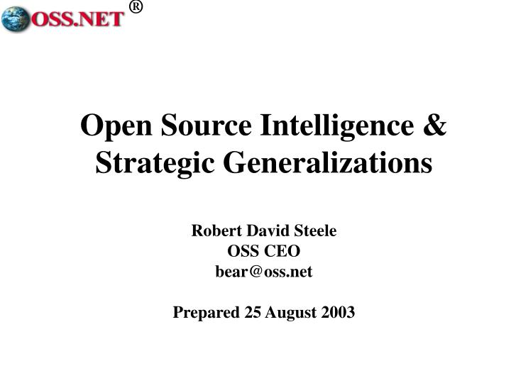 open source intelligence strategic generalizations n.