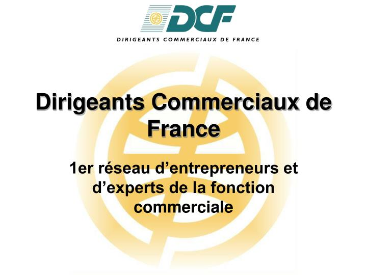 dirigeants commerciaux de france n.