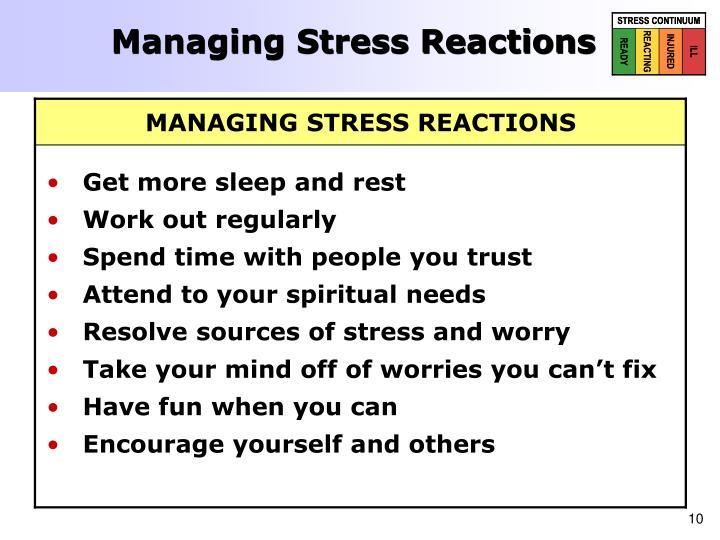 Managing Stress Reactions