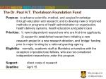 the dr paul h t thorlakson foundation fund