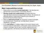 vice president research and international dr digvir jayas