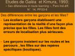 etudes de gal a et kimura 1993 sex diferences in route learning pers ind diff n 14 pp 53 6