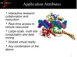 application attributes
