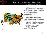 internet2 member universities 185 members as of february 2001