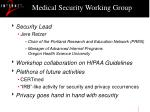 medical security working group