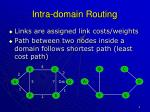 intra domain routing