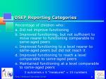 osep reporting categories