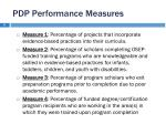 pdp performance measures