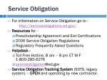 service obligation