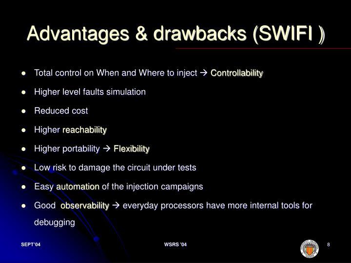 Advantages & drawbacks (SWIFI )