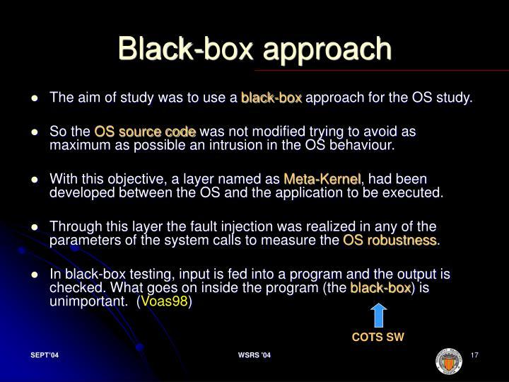 Black-box approach