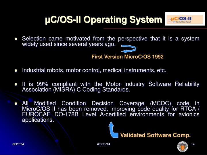µC/OS-II Operating System
