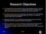 research objectives1