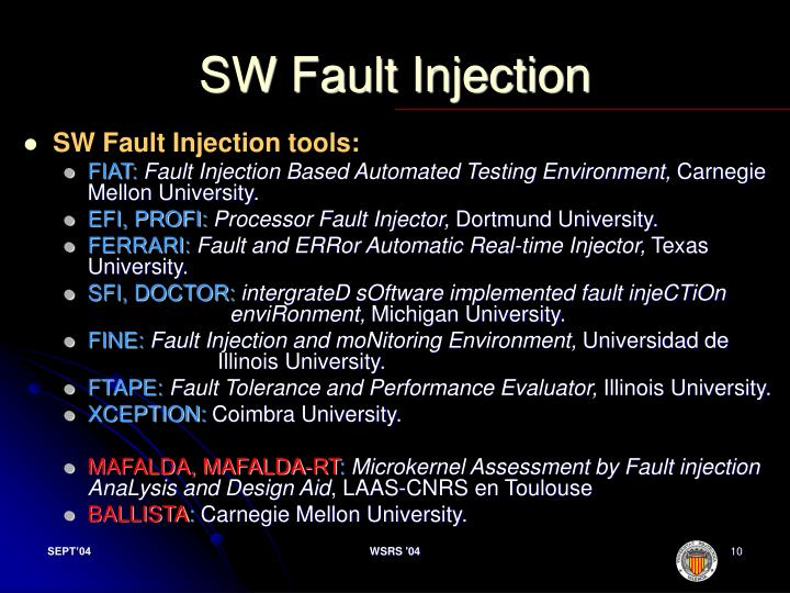 SW Fault Injection
