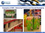 examples of rrp reducing primary and overall packaging