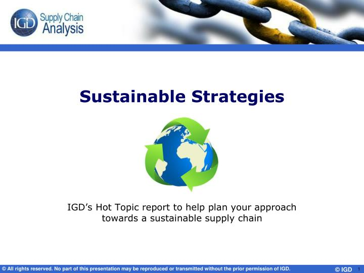 sustainable strategies n.