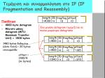 ip ip fragmentation and reassembly