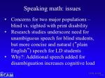 speaking math issues1