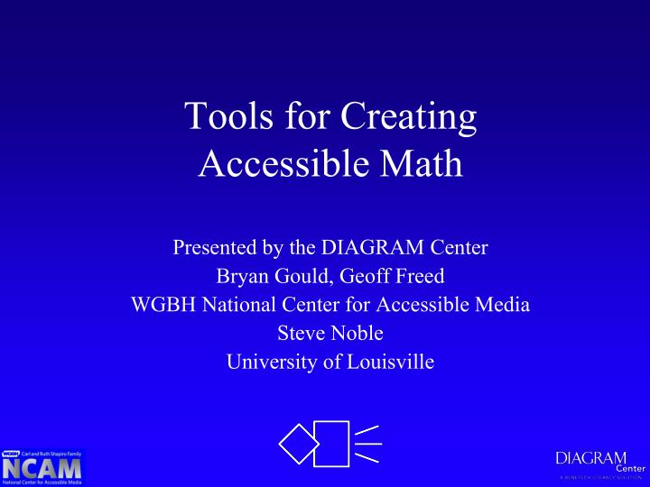 tools for creating accessible math n.