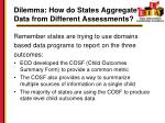 dilemma how do states aggregate data from different assessments