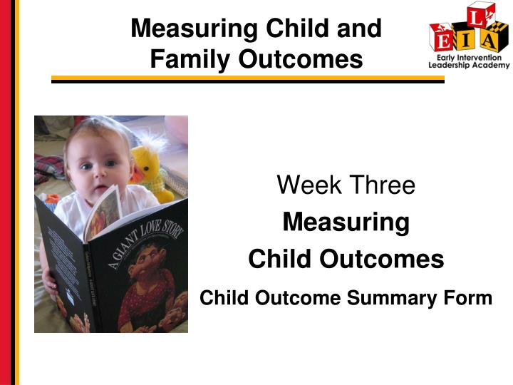 measuring child and family outcomes n.