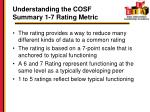 understanding the cosf summary 1 7 rating metric