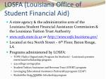 losfa louisiana office of student financial aid