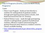 title iv programs grants loans work study programs2