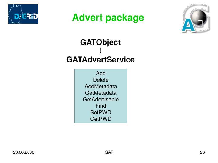 Advert package