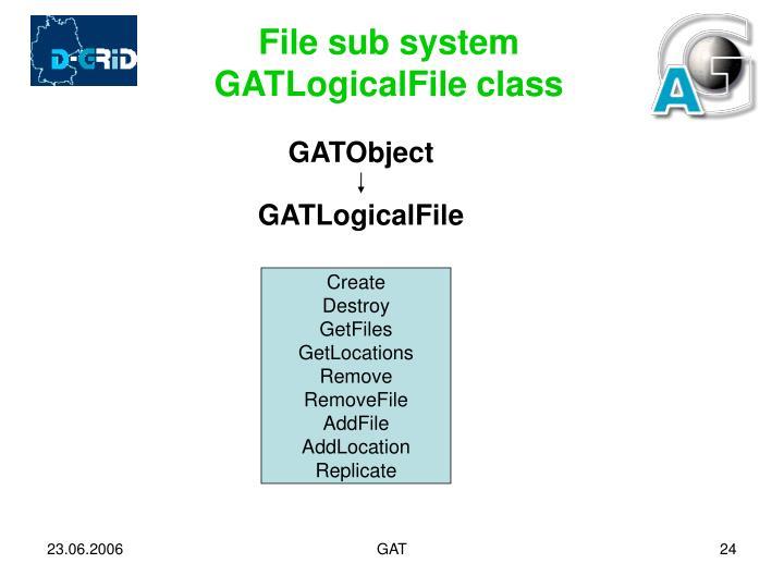 File sub system