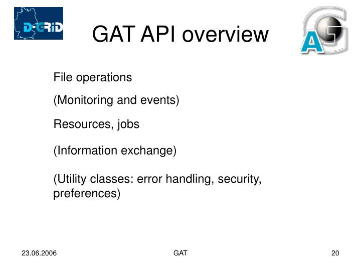 GAT API overview