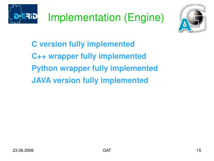 Implementation (Engine)