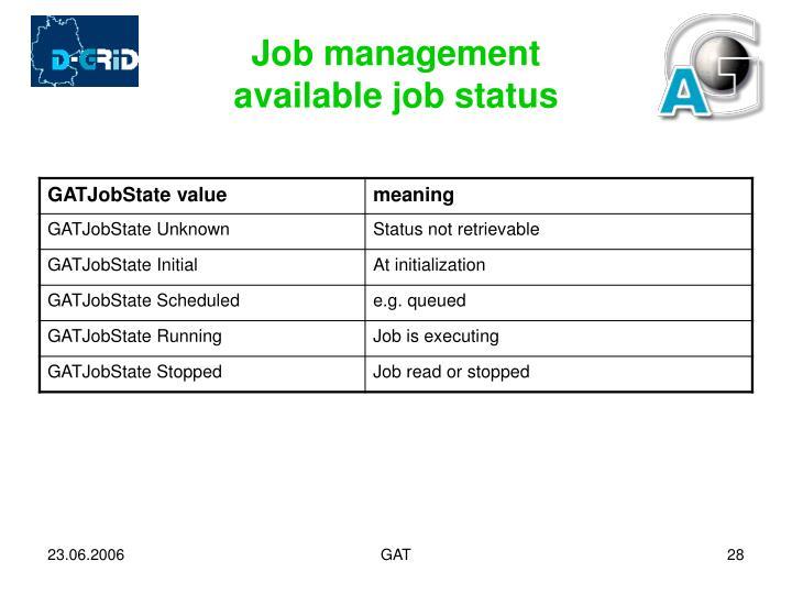 Job management