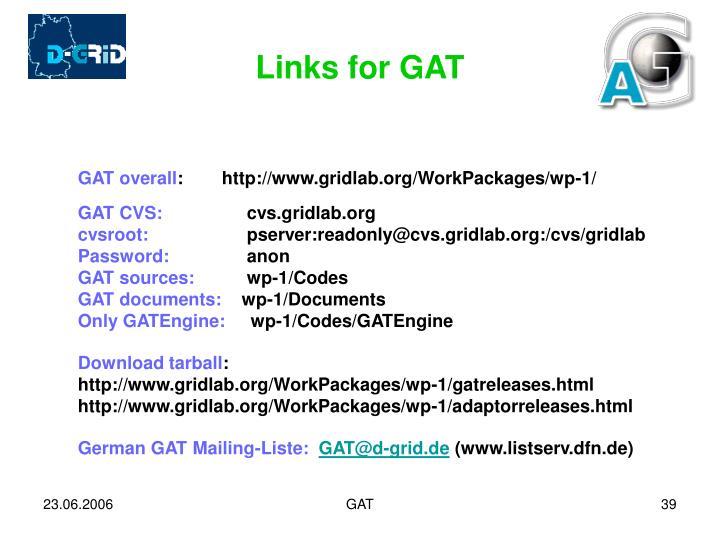 Links for GAT
