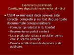 examinarea preliminar constituirea depozitului reglementar al m rcii