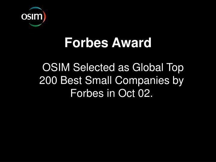Forbes Award