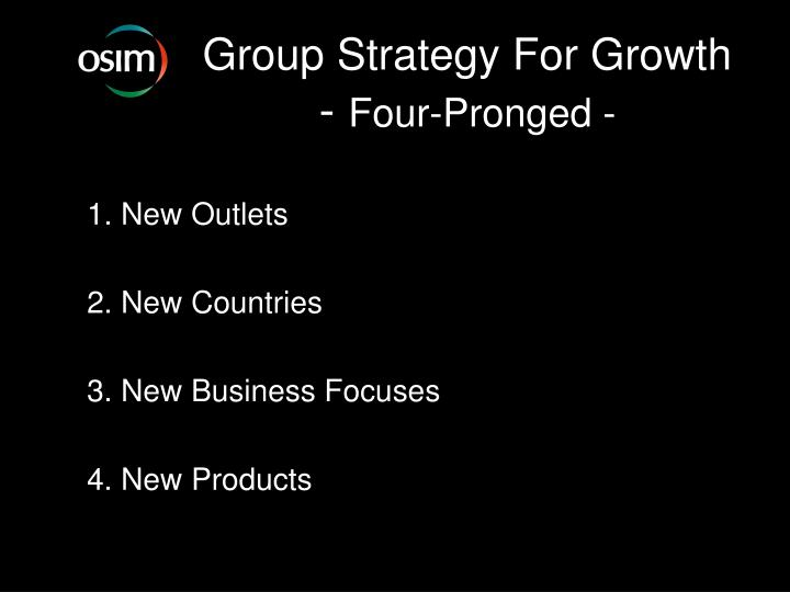 Group Strategy For Growth
