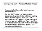 configuring ospf across multiple areas1