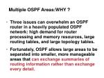 multiple ospf areas why