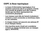 ospf la base topologique