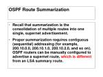 ospf route summarization