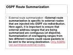 ospf route summarization2