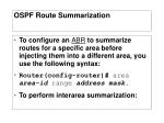 ospf route summarization3
