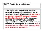 ospf route summarization7